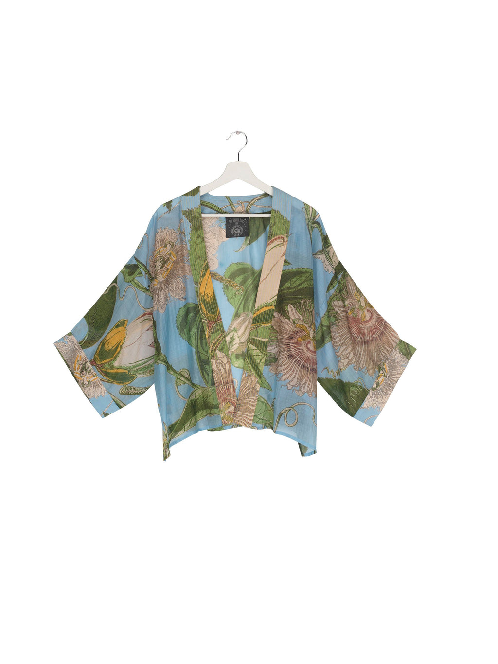 One Hundred Stars Kew Passion Flower Kimono - Sky