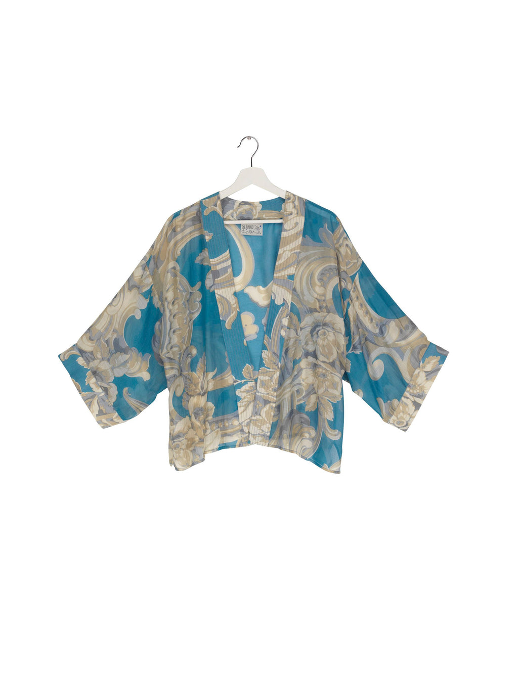 One Hundred Stars Kimono Plaster Roses - Blue