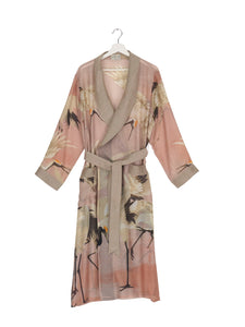 One Hundred Stars Stork Dressing Gown - Pink