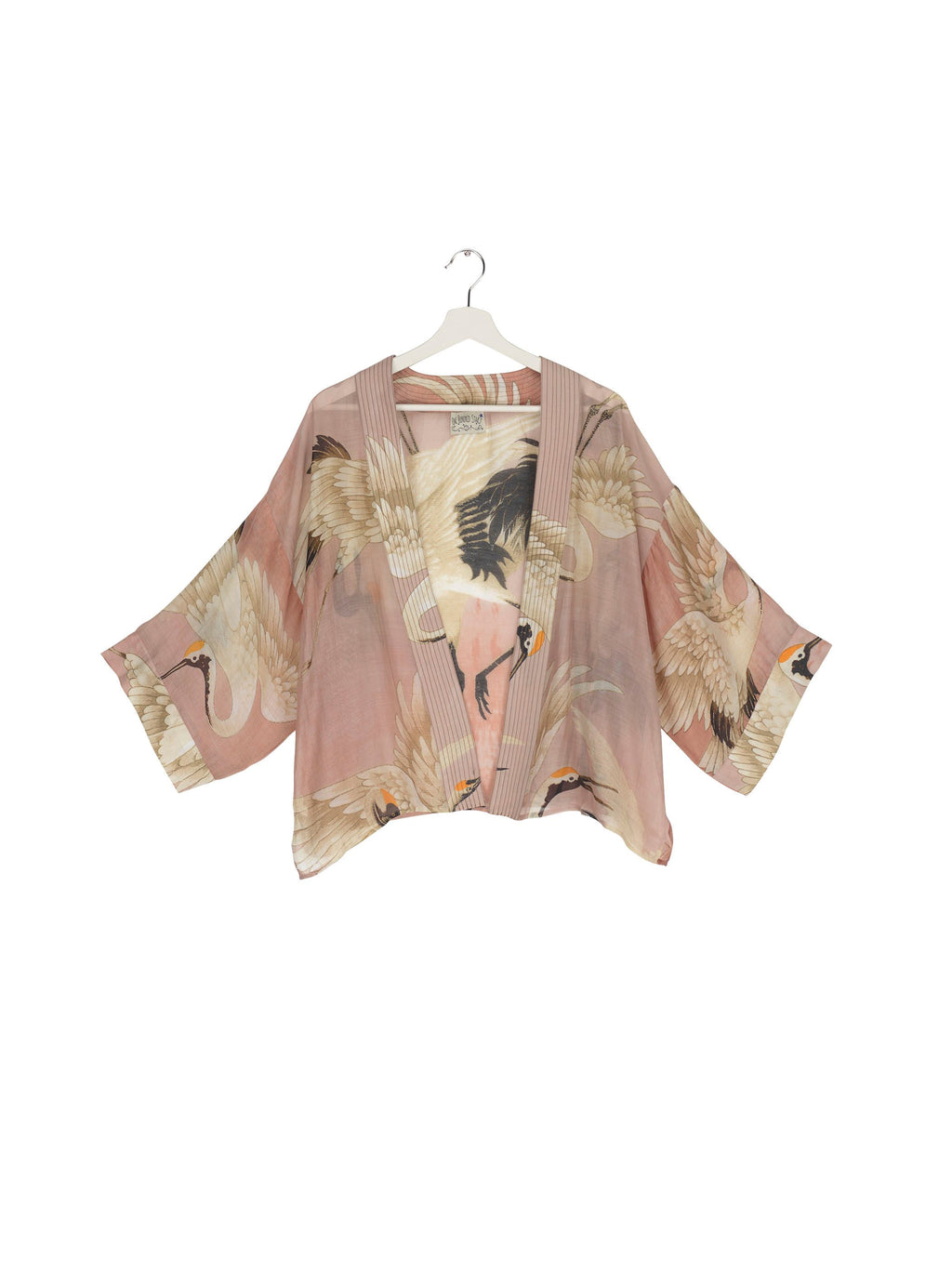 One Hundred Stars Kimono Stork - Plaster Pink