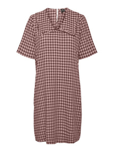 Vero Moda Gingham Dress-Roseate Spoonbill