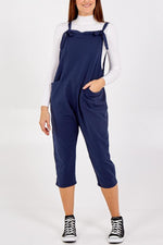 Load image into Gallery viewer, Jersey Dungarees-Navy