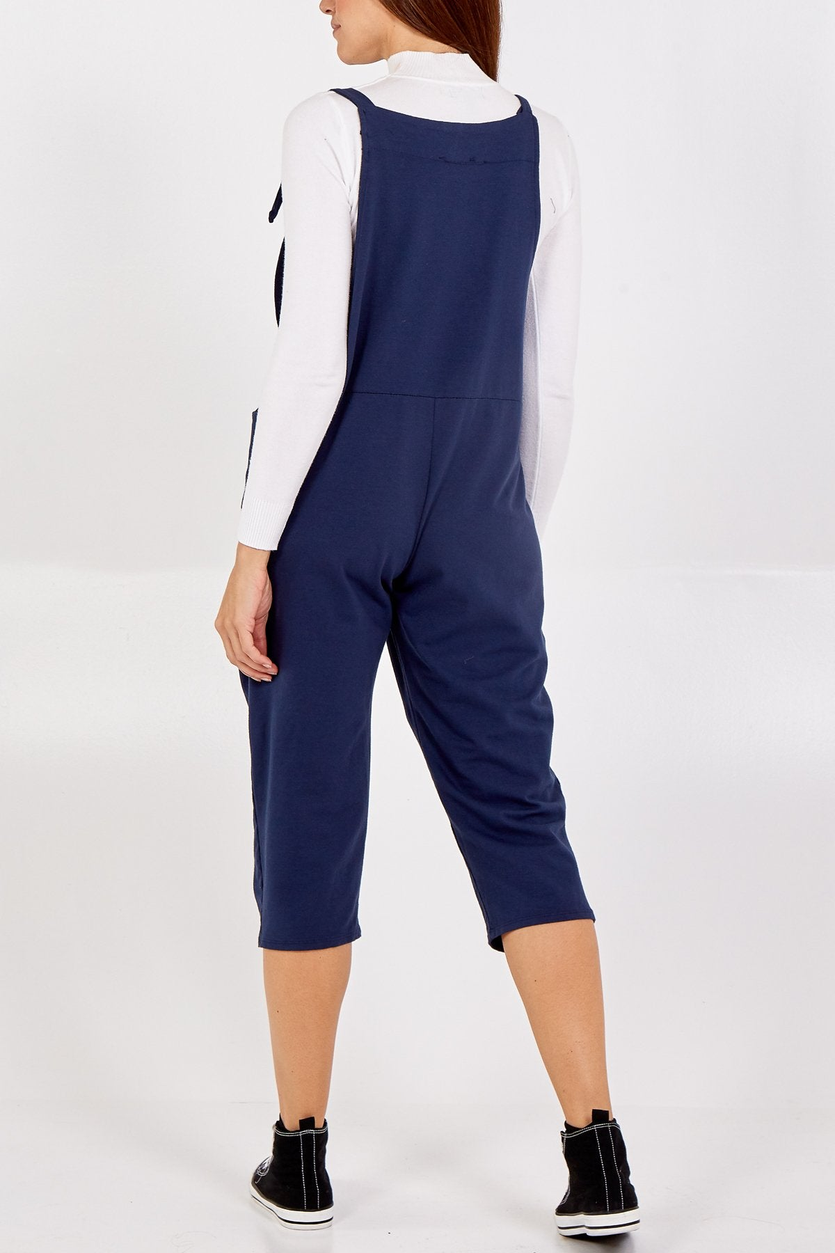 Jersey Dungarees-Navy