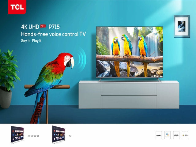 TCL Launches Latest Flagship 4k Android Model with Far Field Voice Recognition
