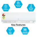 Smart Air | 3 Star 1 Ton AI-Ultra Inverter Air Conditioner  (Works with Google Assistant & TCL Home APP)