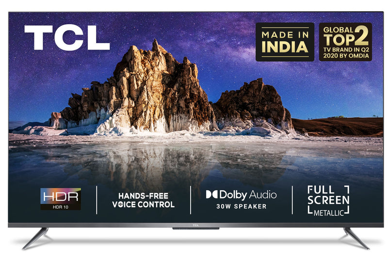 TCL 189.5 cm (75 inches) 4K Ultra HD Smart Certified Android LED TV 75P715 (Sliver) (2020 )| Full Screen & Hands-Free Voice Control