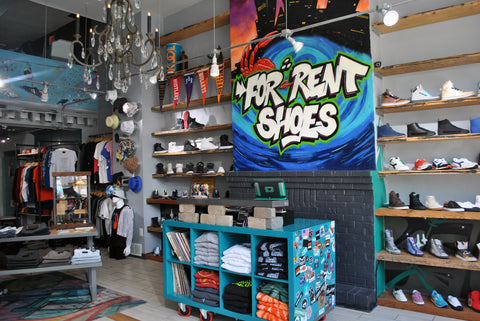 Interior Shot of For Rent an independent streetwear and sneaker store