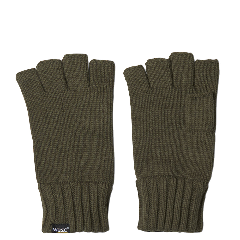 WeSC - Kiril Cut-Off Gloves - Olive Night