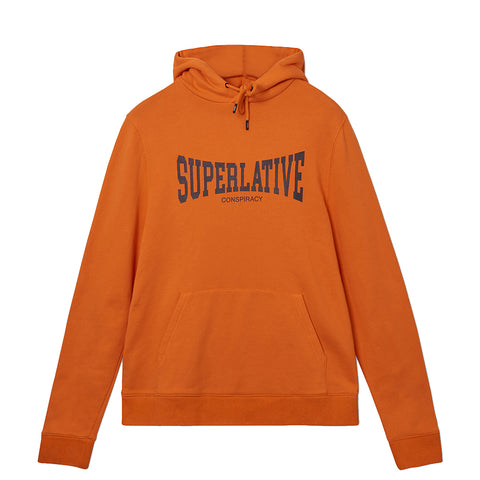 WeSC - Mike Superlative Logo Hoodie - Neon Orange
