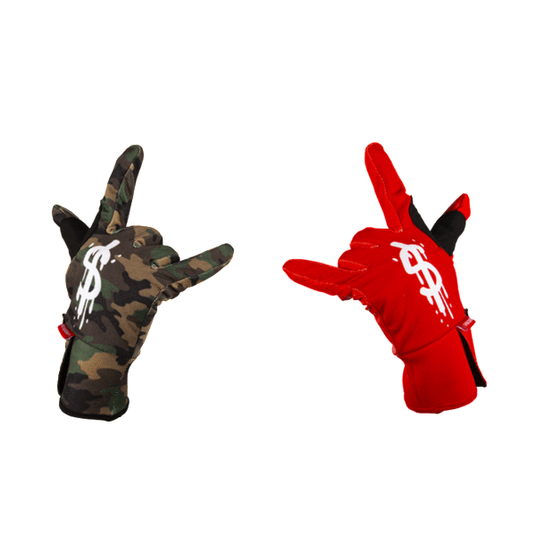 Sprayground - Money Drips Gloves - Red / Camo - FRS