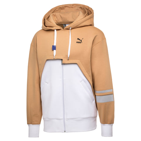 Puma x ADER ERROR - Zip-Up Unisex Hoodie - White / Taffy