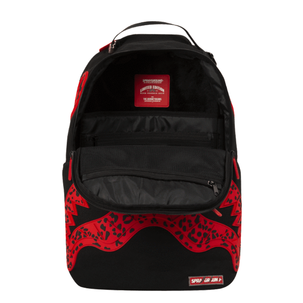Sprayground - Red Leopard Rubber Shark Backpack - Red