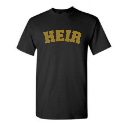 "Heir to the Throne - ""Heir"" Tee - Black x Gold"