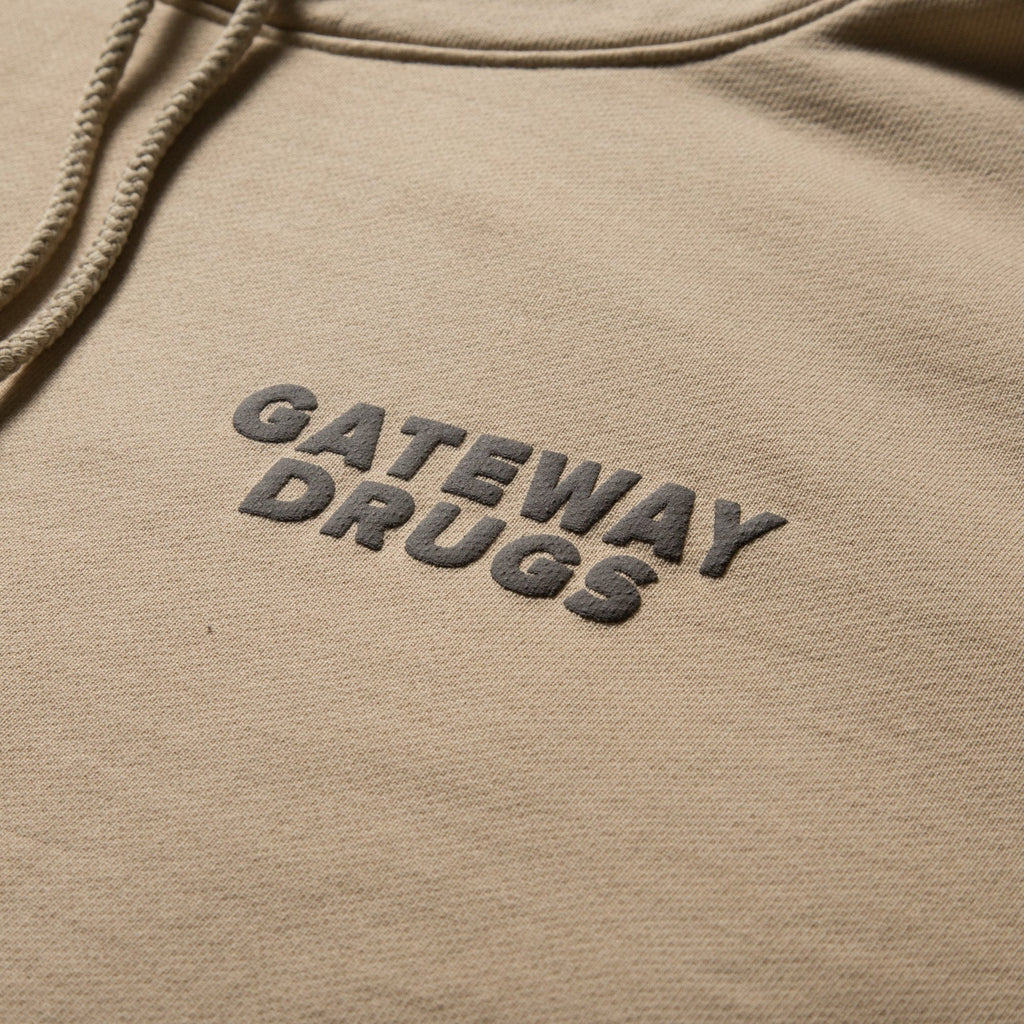 BornxRaised - Gateway Drugs Hoody - Kahki - FRS