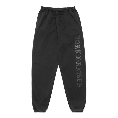 BornxRaised - BXR Flocked Sweats - Vintage Black