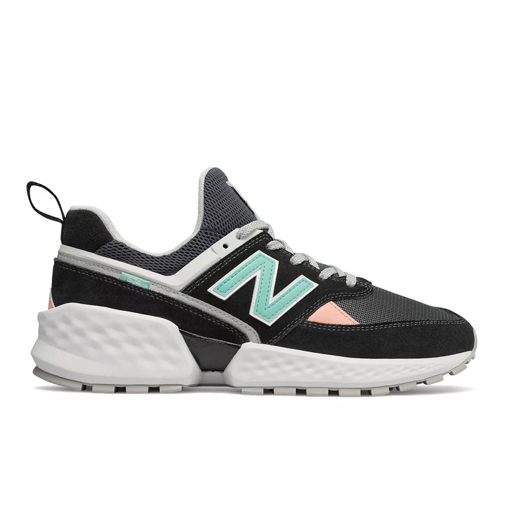 New Balance - 574 Sport 90's (MS574GNB) - Black with White - FRS