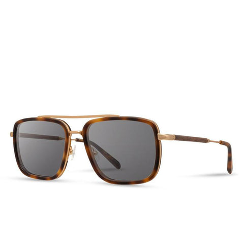 Shwood - Grant: Matte Brindle & Matte Gold // Walnut - Grey