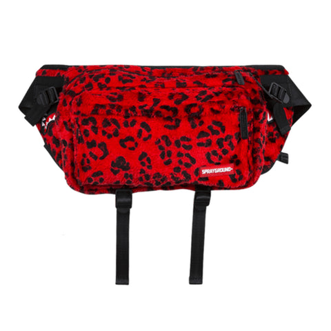 Sprayground - Red Leopard Transporter Crossbody - Red