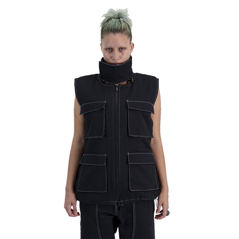 Control Sector - Convertable Vest - Black