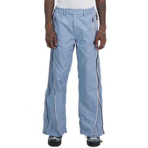 Control Sector - Multi Zip Trouser - Blue / White