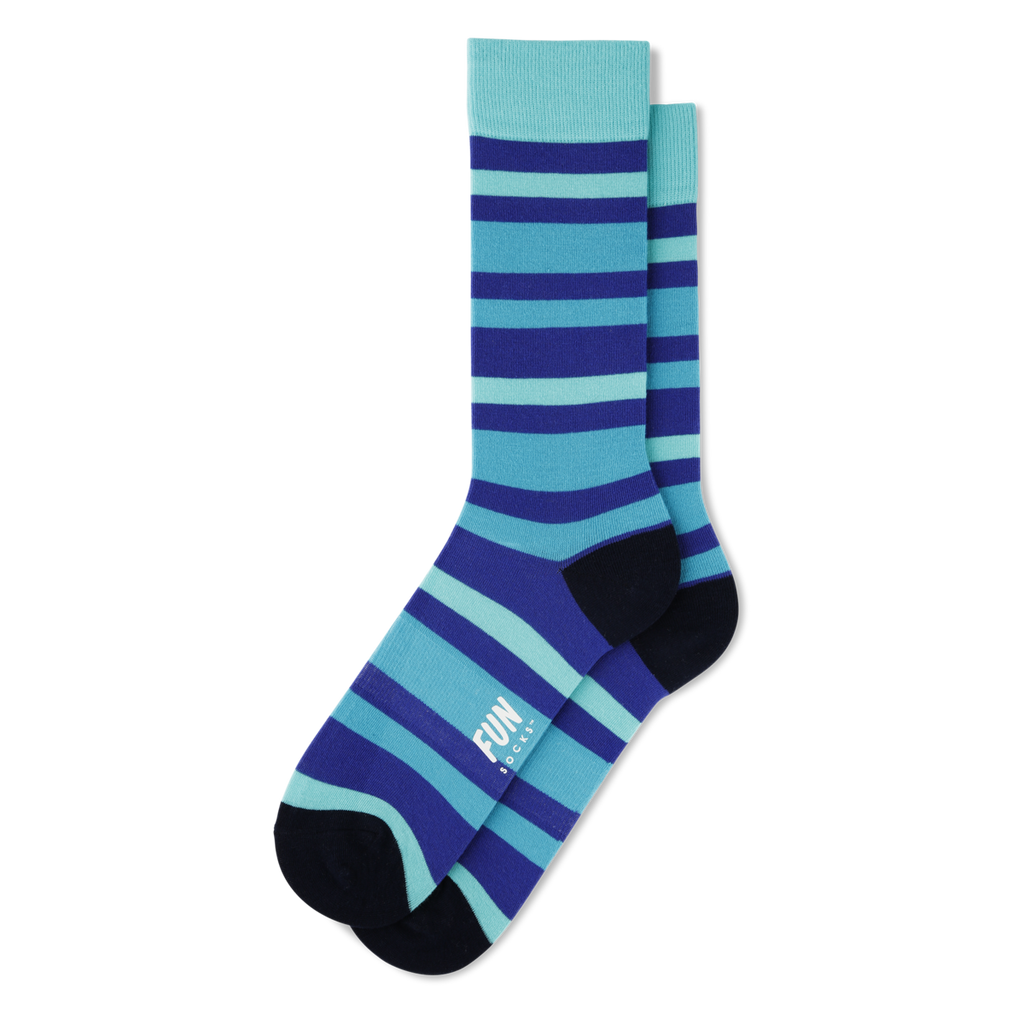 Fun Socks - Bold Stripe - Blue / Green - FRS