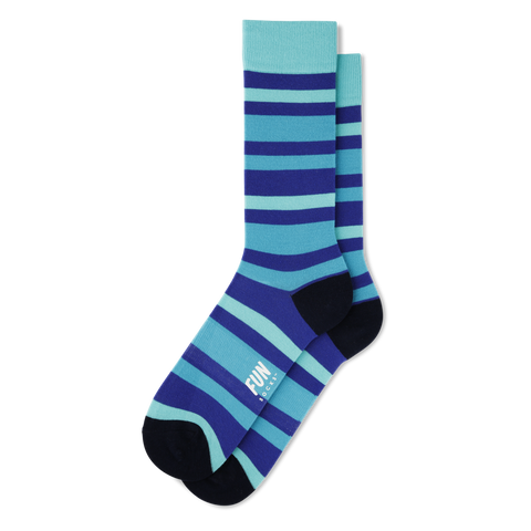 Fun Socks - Bold Stripe - Blue / Green