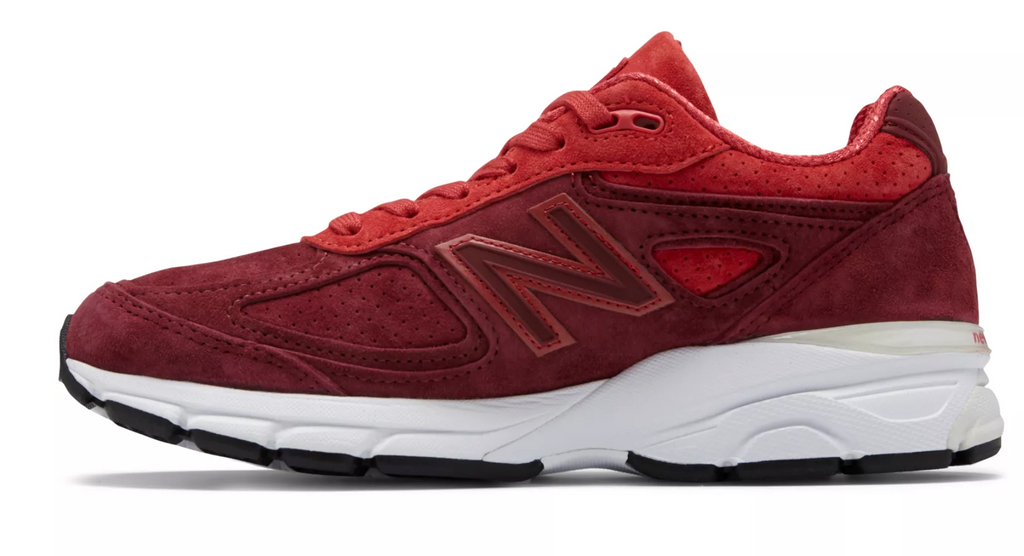 New Balance - Women's Made in USA 990v4 (W990VT4) - Vortex w/ Mercury Red - FRS