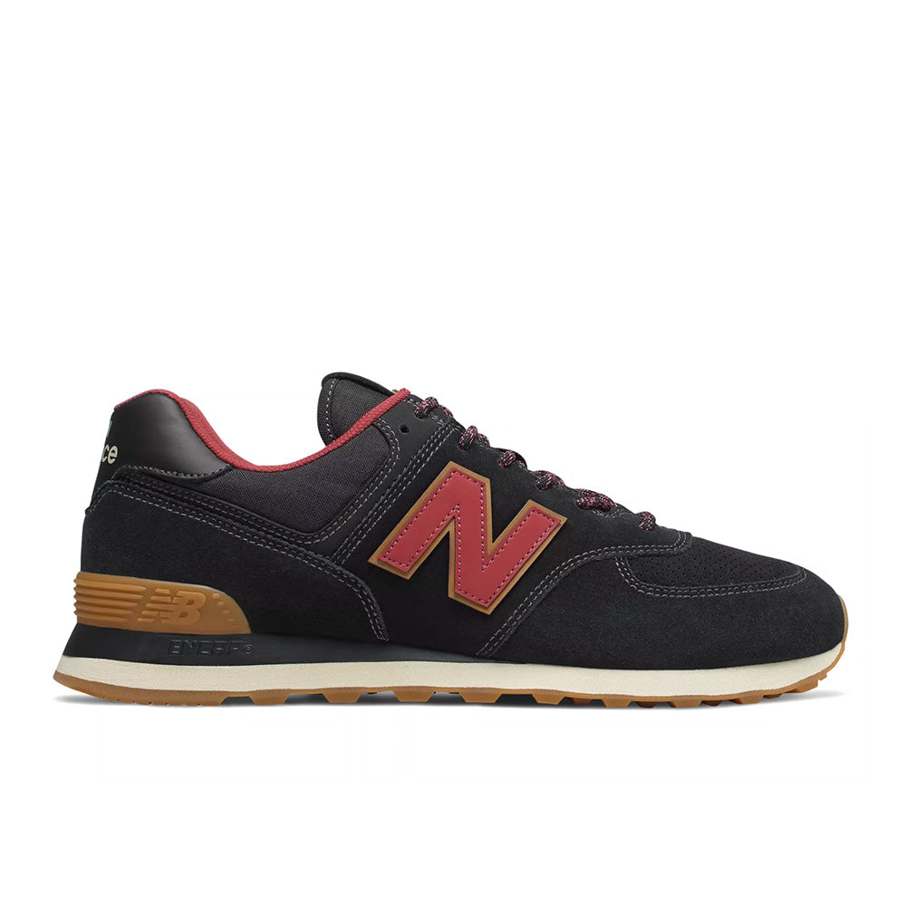 New Balance - 574 Classic (ML574OTD) - Black w/ Earth Red - FRS