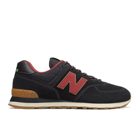 New Balance - 574 Classic (ML574OTD) - Black w/ Earth Red