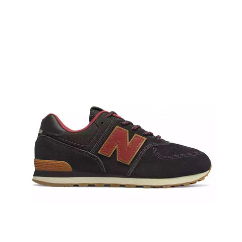 New Balance - Boy's 574 Classic (PC574TT) - Black with Earth Red