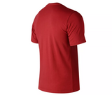 New Balance - Essentials Stacked Logo Tee - Red - FRS