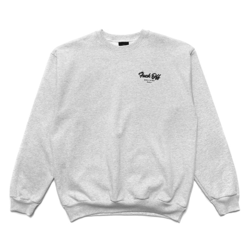 BornxRaised - BXR Studios Crewneck Sweathsirt - Heather Grey - FRS