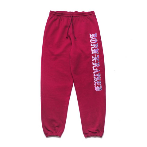 BornxRaised - BXR Gradient Sweats - Burgundy / Purple