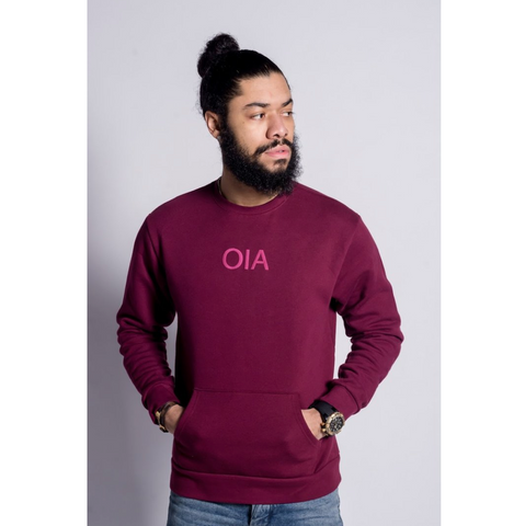 Only in America - OIA Logo Crewneck - Maroon