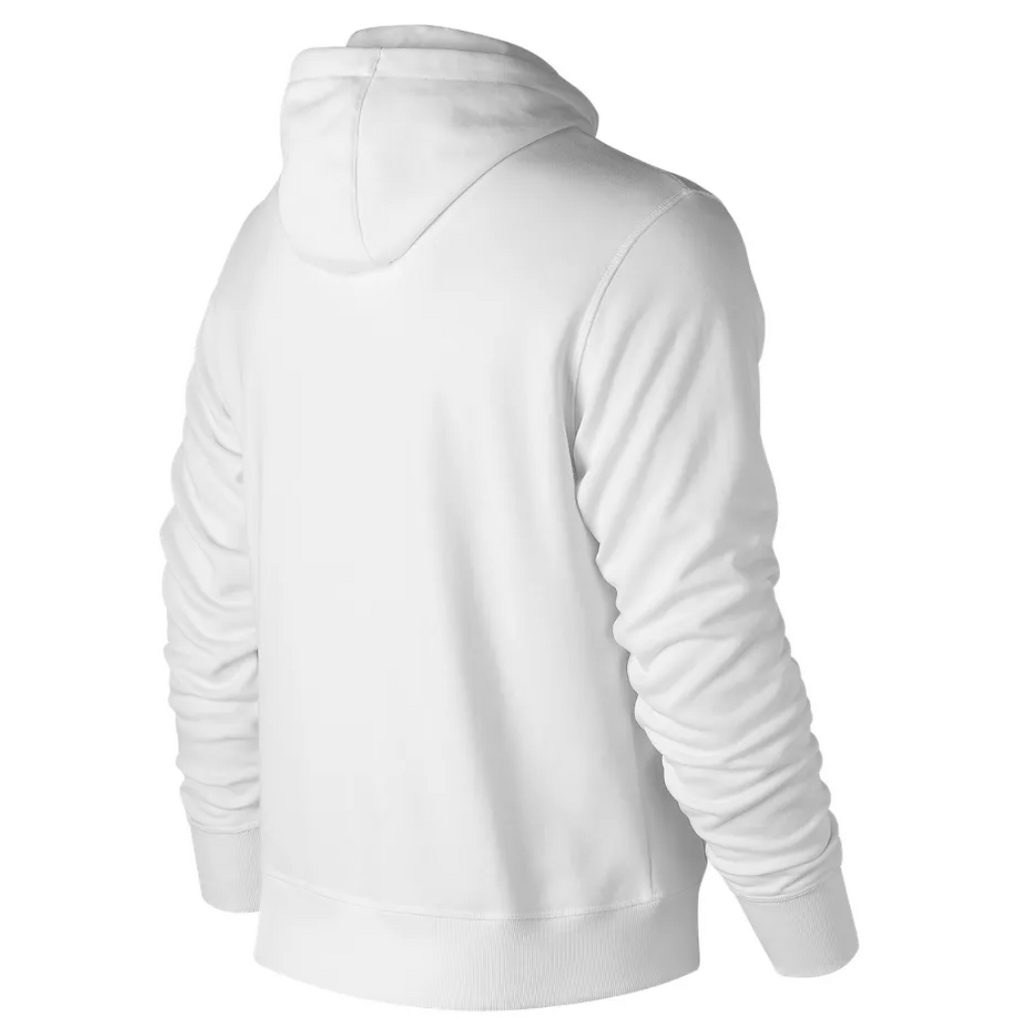 New Balance - Essentials Stacked Logo Pullover Hoodie - White - FRS