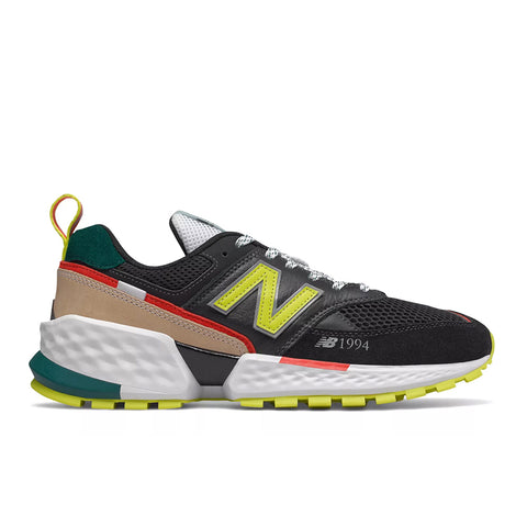 New Balance - 574 Sport (MS574AAB) - Black w/ Sulphur Yellow
