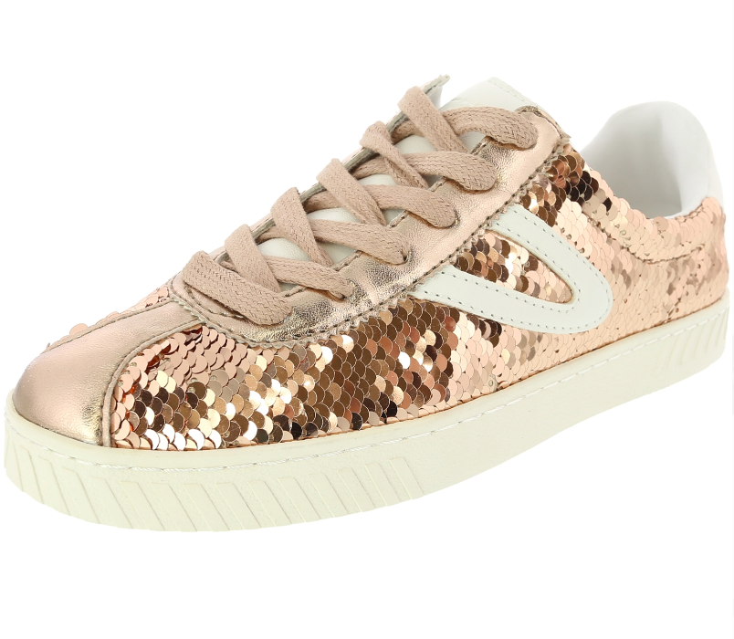 Tretorn - Women's Camden5 - Rose / White Sequins