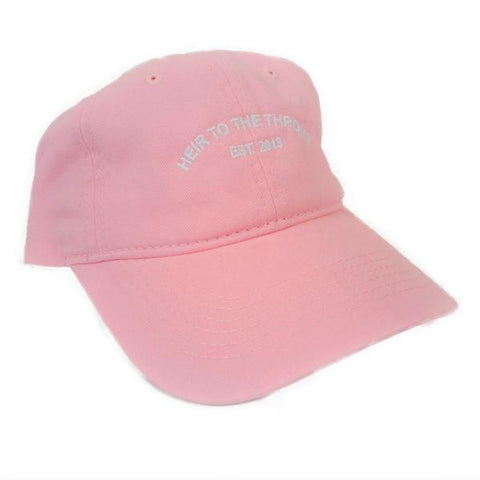Heir to the Throne - Company Dad Hat - Pink x White