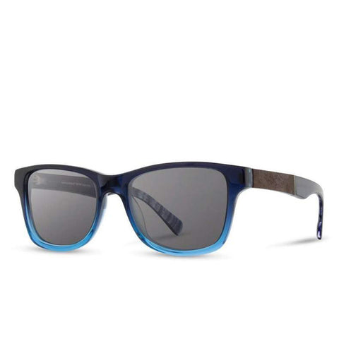 Shwood - Canby: Mariner Blue // Elm Burl - Grey Polarized