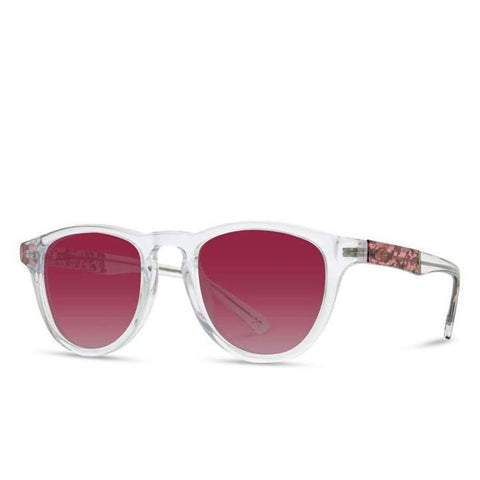 Shwood - Francis: Crystal // Plum Flower - Rose Fade Polarized