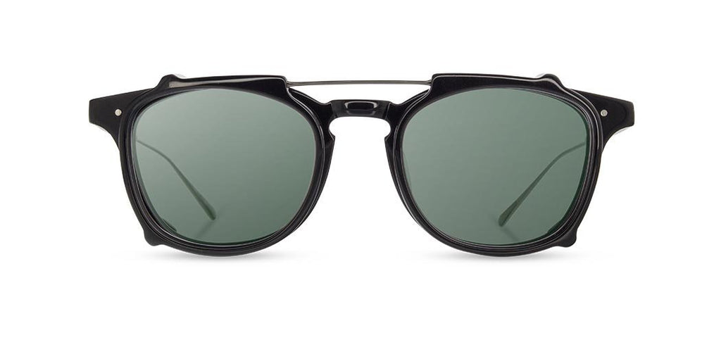 Shwood - Kennedy City - Black & Black Acetate Clip G15 Polarized - FRS