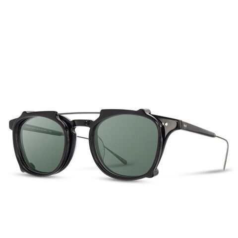 Shwood - Kennedy City - Black & Black Acetate Clip G15 Polarized