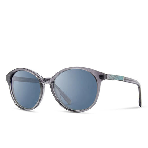 Shwood - Bailey - Smoke Abalone Shell - Blue Flash Polarized