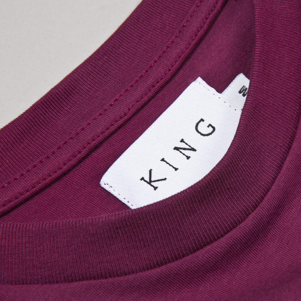 King Apparel - Bethnal T-shirt - Oxblood - FRS