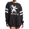 Artistix - Crest Sweatshirt Dress - Black - FRS