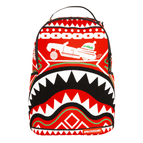 Sprayground - Ugly Sweater Shark Backpack - White / Red