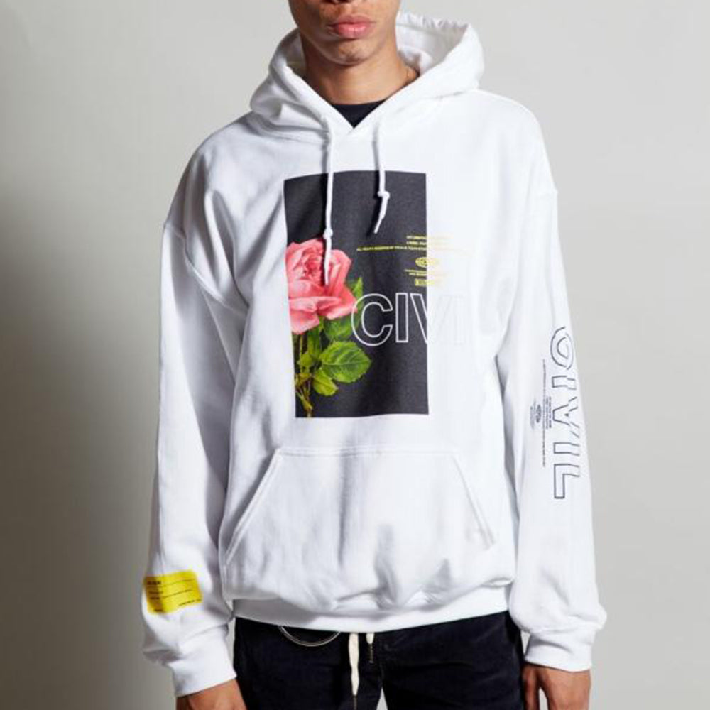 Civil - Bloom Box Hoodie - White - FRS