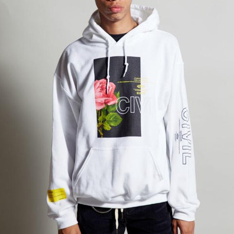 Civil - Bloom Box Hoodie - White