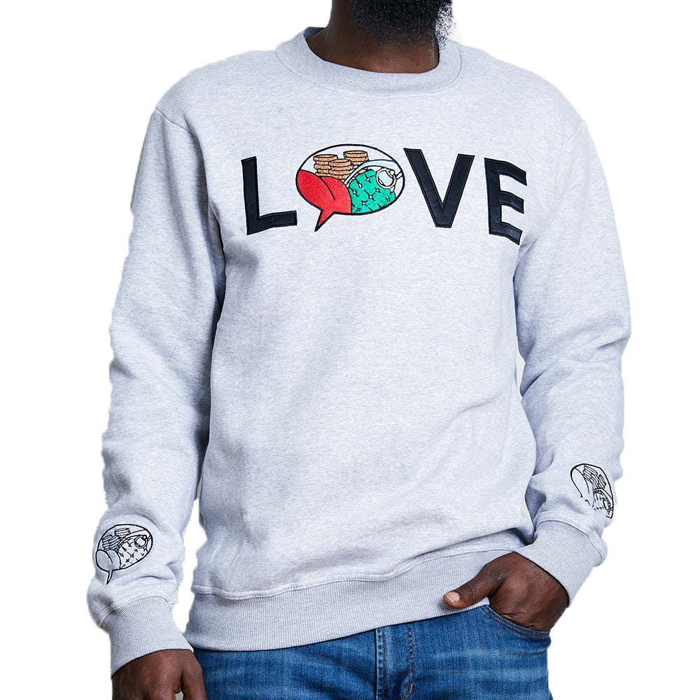 Status Apparatus - Love Logo Crewneck - Grey