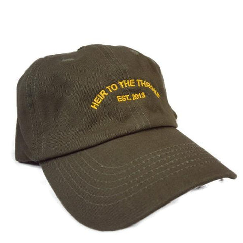Heir to the Throne - Company Dad Hat - Olive Green x Gold